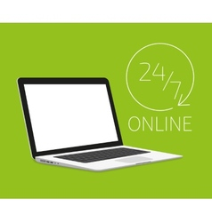 Laptop template vector image