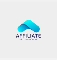 Letter a accounting financial creative logo vector