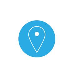 Map pointer icon gps location symbol flat design vector