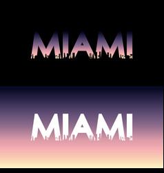 miami city label vector image