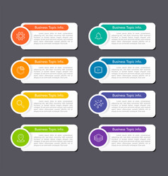 modern flat line infographics 8 options vector image