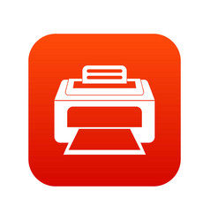 Modern laser printer icon digital red vector