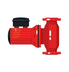 Motor operated flanged water gate valve equipment vector