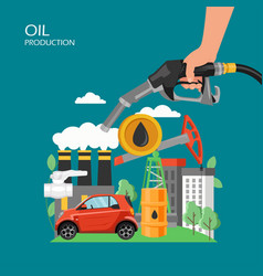 oil production flat style design vector image
