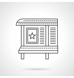 Poster board flat line icon vector image