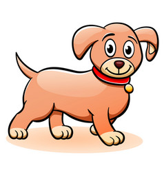 puppy cartoon clipart vector image