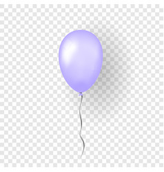 purple balloon 3d thread isolated white vector image