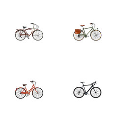 realistic cyclocross drive journey bike retro vector image