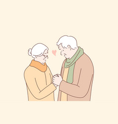 relationship love couple romance old age vector image