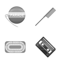 Retro business sport and other monochrome icon vector