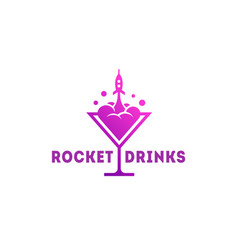 rocket drinks logo vector image