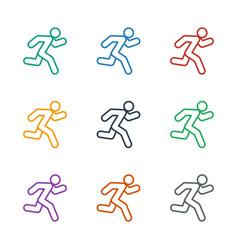 Running icon white background vector