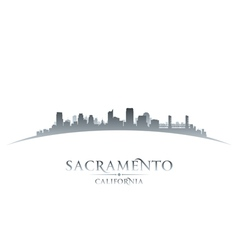 Sacramento california city skyline silhouette vector
