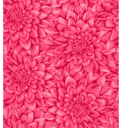 Seamless background with pink dahlia vector