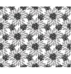 Seamless luxury flowers pattern background vector