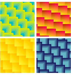 Set Of Seamless Square Patterns vector image