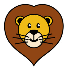 simple cartoon of a cute lion vector image