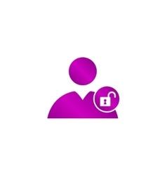 User icon lock vector image