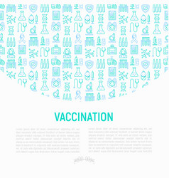 vaccination concept with thin line icons vector image