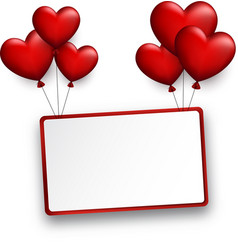 valentine s rectangular background with hearts vector image