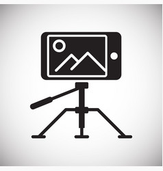 Video blogger equipment icon on white background vector
