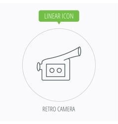 Video camera icon Retro cinema sign vector image