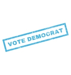 Vote Democrat Rubber Stamp vector image