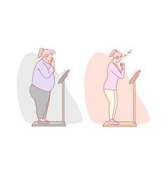 Weight loss diet fitness set concept vector