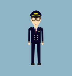 welcome to travel by plane pilot capitan vector image