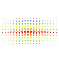 yen spectrum halftone array vector image