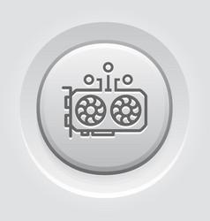 gpu mining icon vector image