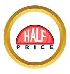 Half price label icon vector image vector image