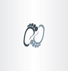 human foot logotype icon vector image