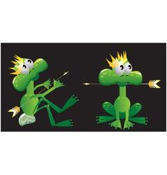 king frog cartoon vector image