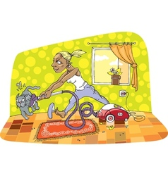 Room Cleaning vector image vector image