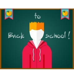 Back to school concept text on chalkboard vector image