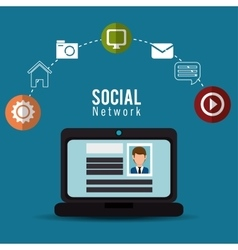 computer social network profile person online vector image
