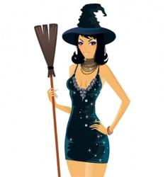 girl Halloween vector image vector image