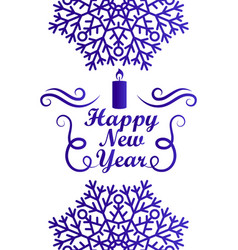 happy new year greeting card design with text vector image vector image