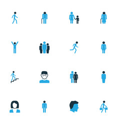 Human colorful icons set collection of clever vector