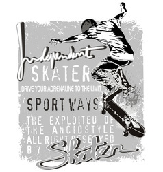 independent skater vector image vector image