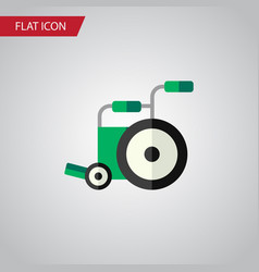 isolated wheelchair flat icon equipment vector image