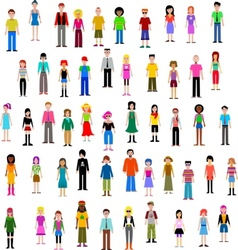 many different people vector image vector image
