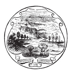 the official seal of the us state of ohio in 1889 vector image vector image