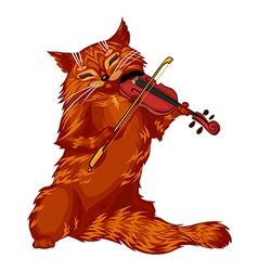 violin cat vector image