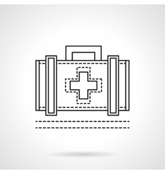 Doctor case flat line icon vector image