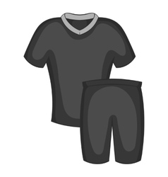 Football uniforms icon black monochrome style vector image