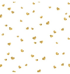 Golden hearts seamless pattern 4 white vector image vector image