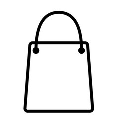 shopping bag pixel perfect thin line icon 48x48 vector image