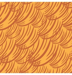 Simple Wave Orange Pattern vector image
